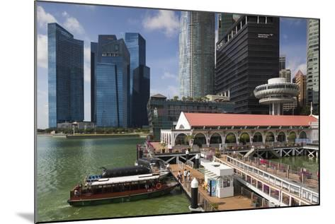 Singapore, City Skyline by the Marina Reservoir-Walter Bibikow-Mounted Photographic Print