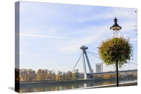 Bridge. Bratislava. Slovakia-Tom Norring-Stretched Canvas Print
