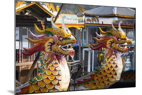 Vietnam, Hue. Dragon Excursion Boats, Perfume River-Walter Bibikow-Mounted Photographic Print