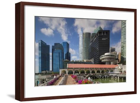Singapore, City Skyline by the Marina Reservoir-Walter Bibikow-Framed Art Print