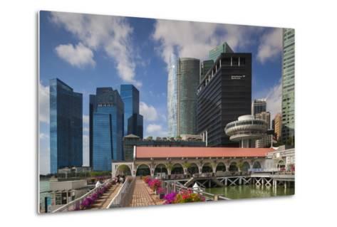 Singapore, City Skyline by the Marina Reservoir-Walter Bibikow-Metal Print
