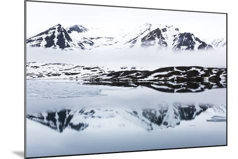 Norway, Svalbard, Monacobreen Glacier, Reflections of Mountains and Glacier-Ellen Goff-Mounted Photographic Print