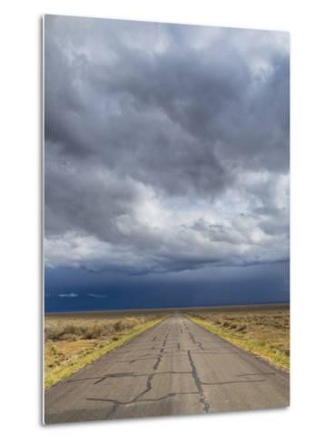 Nevada. Road into Approaching Storm-Jaynes Gallery-Metal Print