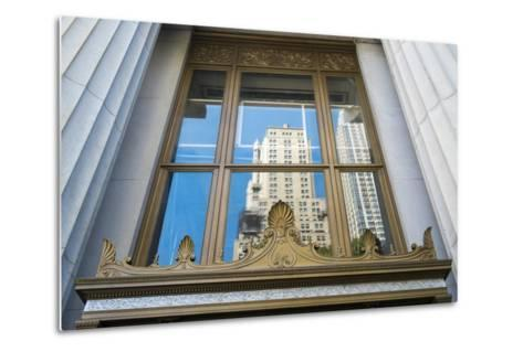 Reflection of a Building in a Window, New York City, New York, Usa-Julien McRoberts-Metal Print
