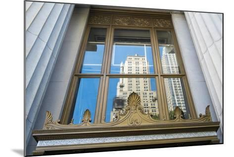 Reflection of a Building in a Window, New York City, New York, Usa-Julien McRoberts-Mounted Photographic Print
