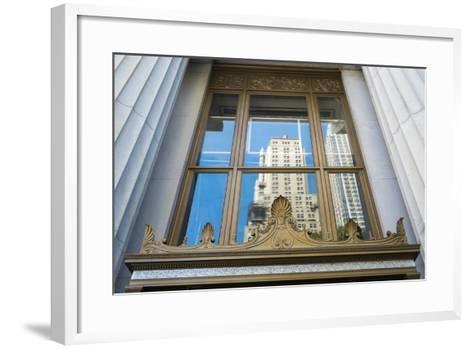 Reflection of a Building in a Window, New York City, New York, Usa-Julien McRoberts-Framed Art Print