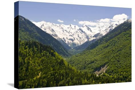 Mountain Scenery of Svanetia, Georgia-Michael Runkel-Stretched Canvas Print