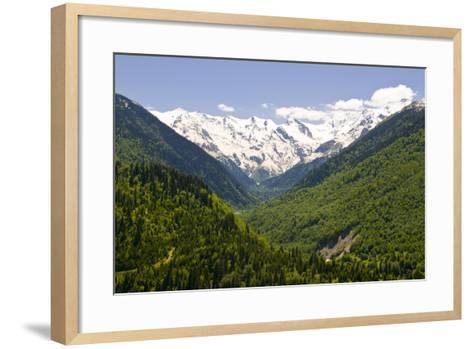 Mountain Scenery of Svanetia, Georgia-Michael Runkel-Framed Art Print