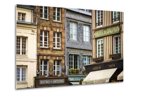Shops and Galleries, Honfleur, Normandy, France-Russ Bishop-Metal Print