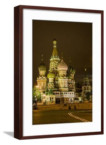 St. Basil's Cathedral. Red Square. UNESCO World Heritage Site. Moscow. Russia-Tom Norring-Framed Art Print