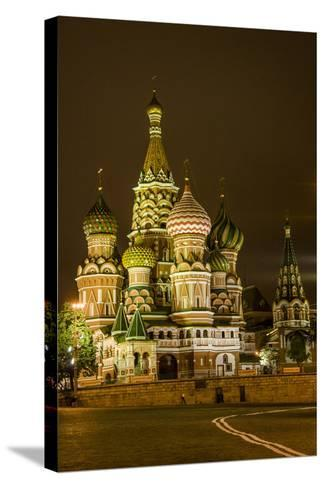 St. Basil's Cathedral. Red Square. UNESCO World Heritage Site. Moscow. Russia-Tom Norring-Stretched Canvas Print
