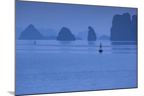Vietnam, Halong City, Halong Bay Rocks, Dusk-Walter Bibikow-Mounted Photographic Print