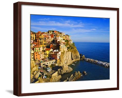 Europe, Italy, Manarola. Hillside Town Overlooking Ocean-Jaynes Gallery-Framed Art Print