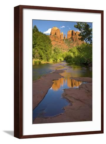 Arizona. Summer Evening at Red Rock Crossing Near Sedona-Judith Zimmerman-Framed Art Print