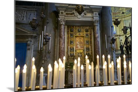 Italy, Tuscany, Pisa, Piazza Dei Miracoli. Inside the Duomo, Electric Candles and Painting-Michele Molinari-Mounted Photographic Print