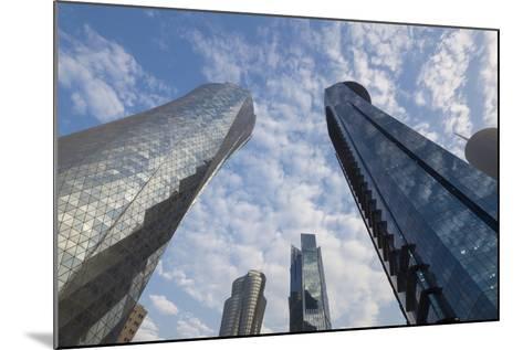 Qatar, Doha, Doha Bay, West Bay Skyscrapers, Dusk-Walter Bibikow-Mounted Photographic Print