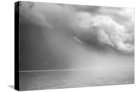Utah. Foreboding Approaching Thunderstorm on Bonneville Salt Flats-Judith Zimmerman-Stretched Canvas Print