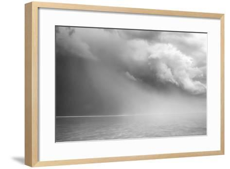 Utah. Foreboding Approaching Thunderstorm on Bonneville Salt Flats-Judith Zimmerman-Framed Art Print