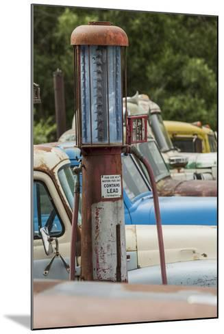 Old Trucks and Antique Gas Pump, Hennigar's Gas Station, Palouse Region of Eastern Washington-Adam Jones-Mounted Photographic Print