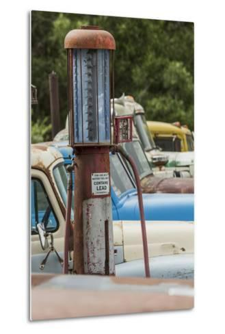 Old Trucks and Antique Gas Pump, Hennigar's Gas Station, Palouse Region of Eastern Washington-Adam Jones-Metal Print