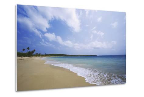 Caribbean, Puerto Rico, Vieques Island. Surf at Red Beach-Jaynes Gallery-Metal Print