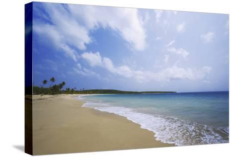 Caribbean, Puerto Rico, Vieques Island. Surf at Red Beach-Jaynes Gallery-Stretched Canvas Print