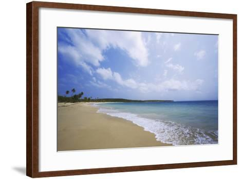 Caribbean, Puerto Rico, Vieques Island. Surf at Red Beach-Jaynes Gallery-Framed Art Print