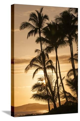 Sunset at Poipu Beach, Kauai, Hawaii-Michael DeFreitas-Stretched Canvas Print