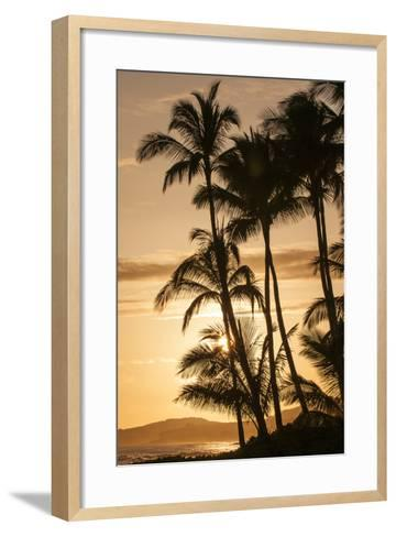 Sunset at Poipu Beach, Kauai, Hawaii-Michael DeFreitas-Framed Art Print