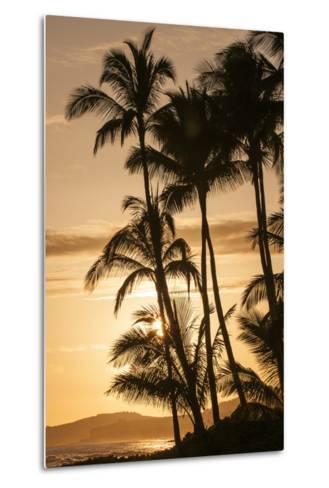 Sunset at Poipu Beach, Kauai, Hawaii-Michael DeFreitas-Metal Print