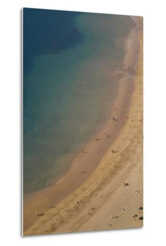 Spain, Canary Islands, Tenerife, San Andres, Elevated View of Beach-Walter Bibikow-Metal Print