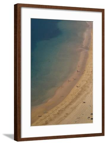 Spain, Canary Islands, Tenerife, San Andres, Elevated View of Beach-Walter Bibikow-Framed Art Print