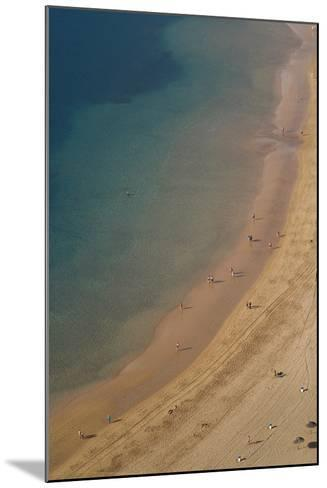 Spain, Canary Islands, Tenerife, San Andres, Elevated View of Beach-Walter Bibikow-Mounted Photographic Print