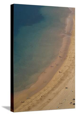 Spain, Canary Islands, Tenerife, San Andres, Elevated View of Beach-Walter Bibikow-Stretched Canvas Print