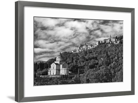 Europe, Italy, Montepulciano. Church of San Biagio at Foot of Town-Jaynes Gallery-Framed Art Print