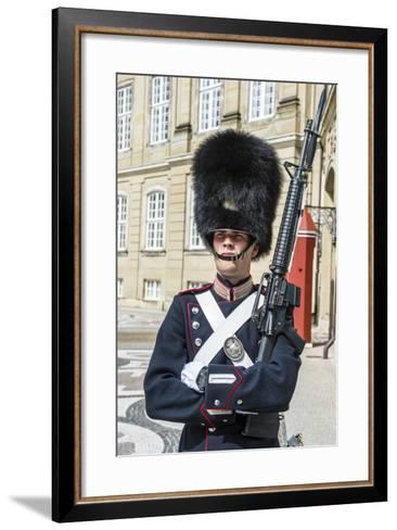 Royal Life Guard, Amalienborg, Winter Home of the Danish Royal Family, Copenhagen, Denmark-Michael Runkel-Framed Art Print