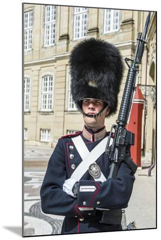 Royal Life Guard, Amalienborg, Winter Home of the Danish Royal Family, Copenhagen, Denmark-Michael Runkel-Mounted Photographic Print