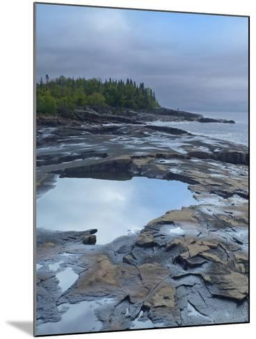 Lake Superior at Artists Point Grand Marais, Minnesota-Tim Fitzharris-Mounted Photographic Print