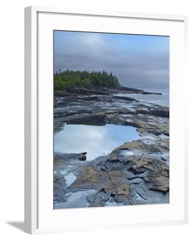 Lake Superior at Artists Point Grand Marais, Minnesota-Tim Fitzharris-Framed Art Print