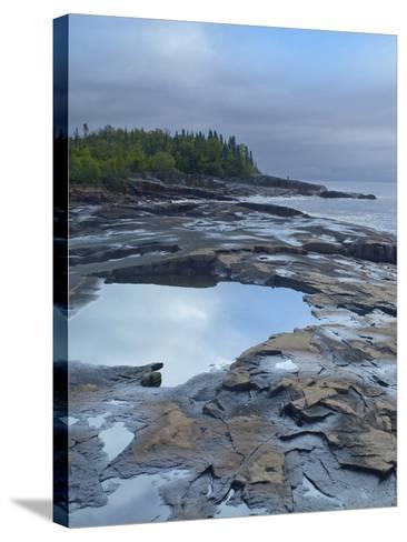 Lake Superior at Artists Point Grand Marais, Minnesota-Tim Fitzharris-Stretched Canvas Print