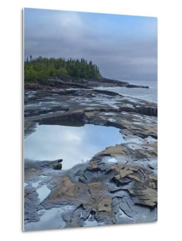 Lake Superior at Artists Point Grand Marais, Minnesota-Tim Fitzharris-Metal Print