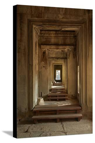 Doorways, Inner Gallery, Khmer Temple, Angkor World Heritage Site, Siem Reap, Cambodia-David Wall-Stretched Canvas Print
