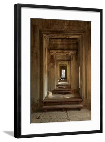 Doorways, Inner Gallery, Khmer Temple, Angkor World Heritage Site, Siem Reap, Cambodia-David Wall-Framed Art Print