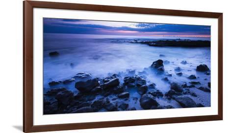 Surf at Dusk, Kailua-Kona, Hawaii, Usa-Russ Bishop-Framed Art Print