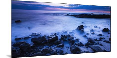 Surf at Dusk, Kailua-Kona, Hawaii, Usa-Russ Bishop-Mounted Photographic Print