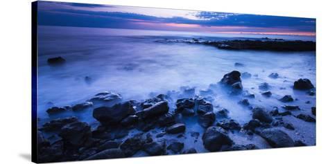 Surf at Dusk, Kailua-Kona, Hawaii, Usa-Russ Bishop-Stretched Canvas Print