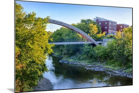 Gateway Crossing Pedestrian Bridge Spans the Meduxnekeag River in Houlton, Maine. Hdr-Jerry and Marcy Monkman-Mounted Photographic Print