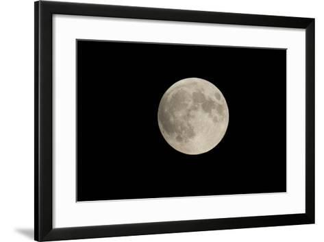 Minnesota, Mendota Heights, Moon before Eclipse, to Blood Moon-Bernard Friel-Framed Art Print