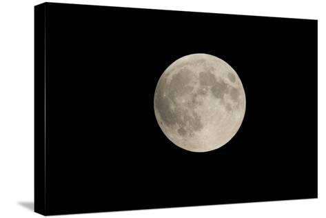 Minnesota, Mendota Heights, Moon before Eclipse, to Blood Moon-Bernard Friel-Stretched Canvas Print