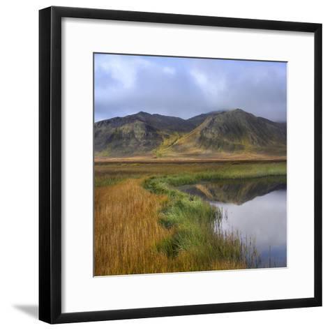 Ogilvie Mountains and Tundra Tarn, Yukon Territories, Canada-Tim Fitzharris-Framed Art Print